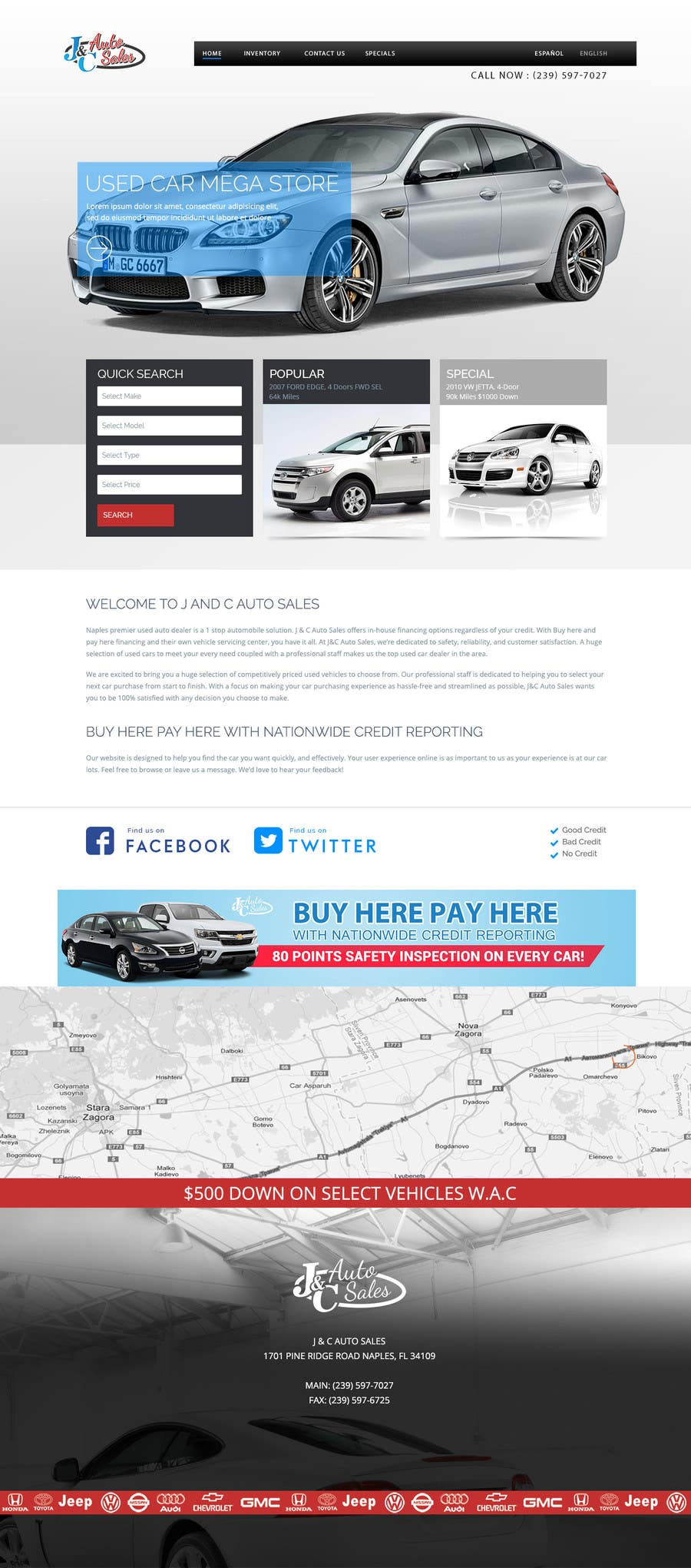 Entry 14 By Madhiyadeveloper For Website Mock Up For Auto Dealer Of