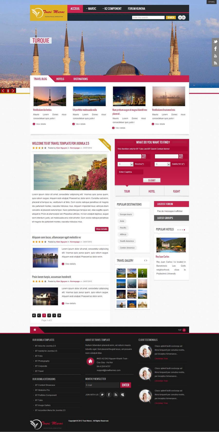 #16 for Design a Wordpress Site for Travel Blog by youss123