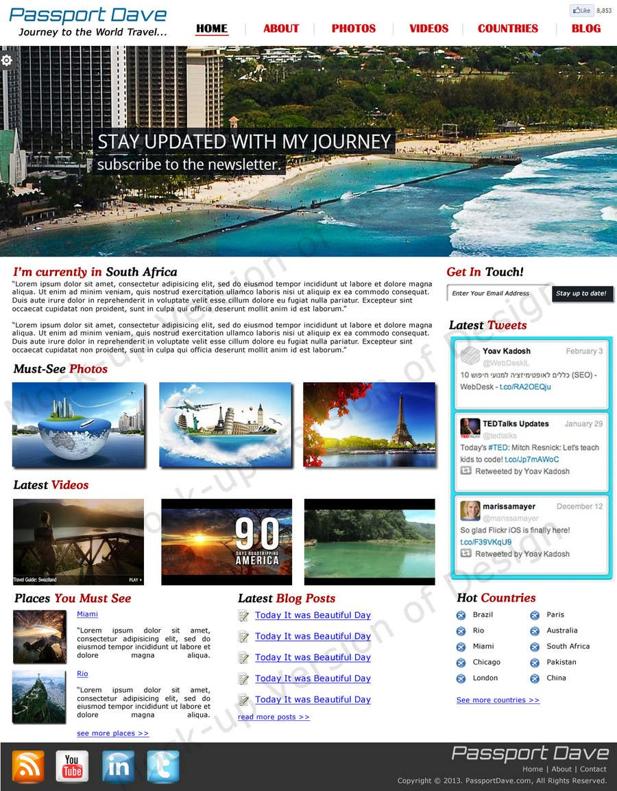 #3 for Design a Wordpress Site for Travel Blog by zeeshanarshad