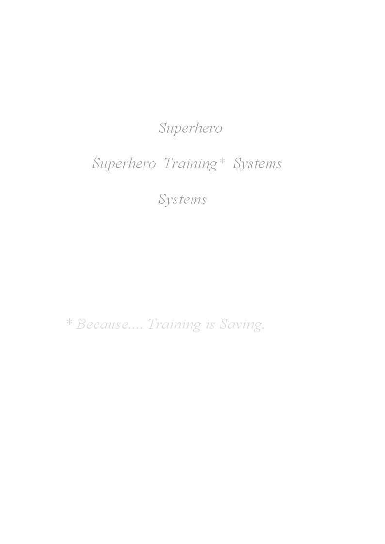 "#4 for Design a Logo for ""Superhero Training Systems"" by sbhardwaj92"