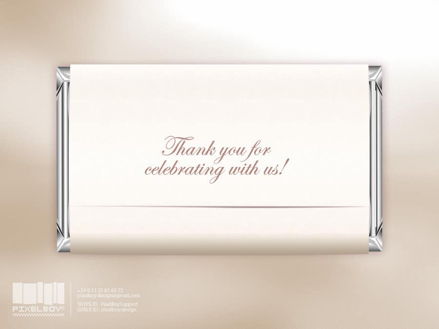 Bài tham dự cuộc thi #                                        18                                      cho                                         Design a Hershey Bar wrapper in Photoshop