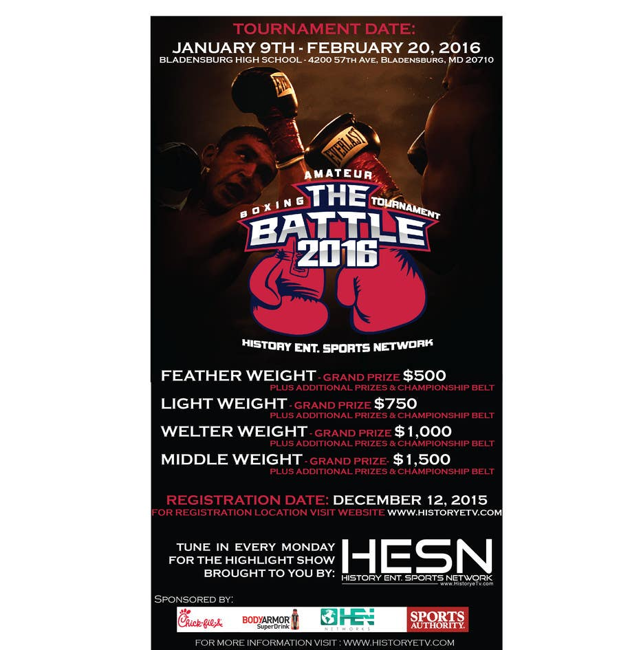 Contest Entry #                                        14                                      for                                         Design a Flyer for my Boxing tournament Easy money!