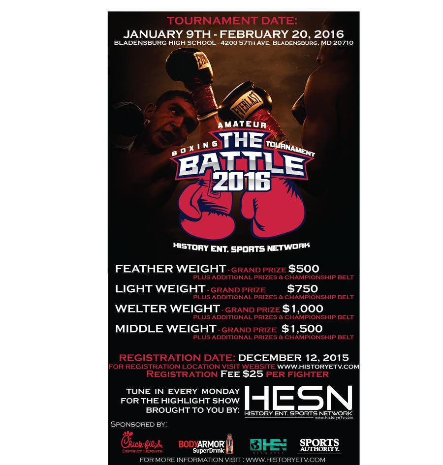 Contest Entry #                                        17                                      for                                         Design a Flyer for my Boxing tournament Easy money!