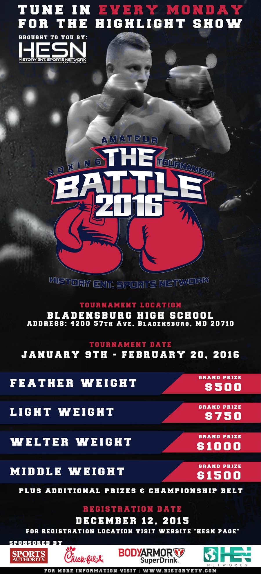 Contest Entry #                                        9                                      for                                         Design a Flyer for my Boxing tournament Easy money!