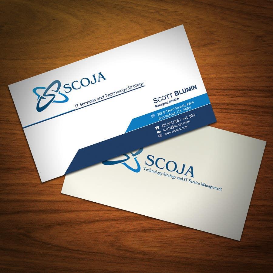 Bài tham dự cuộc thi #                                        233                                      cho                                         Business Card Design for SCOJA Technology Partners