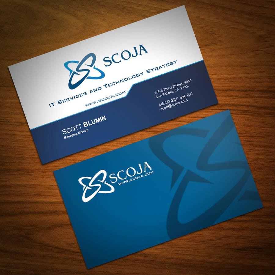 Bài tham dự cuộc thi #                                        349                                      cho                                         Business Card Design for SCOJA Technology Partners