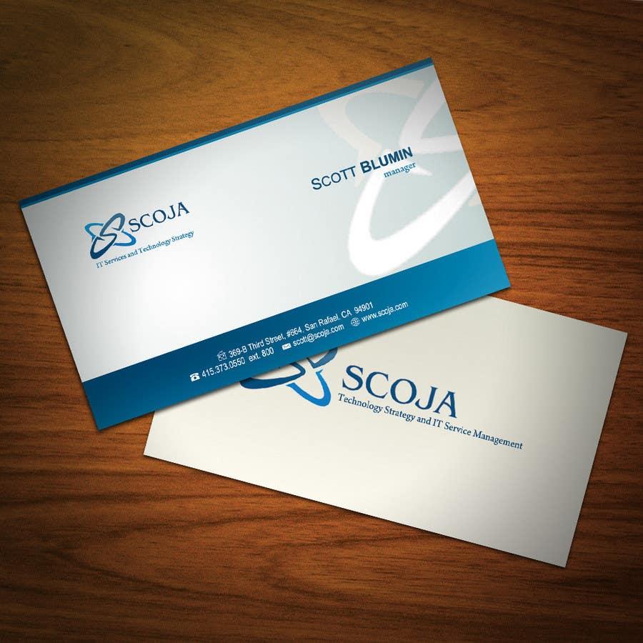 Bài tham dự cuộc thi #                                        136                                      cho                                         Business Card Design for SCOJA Technology Partners