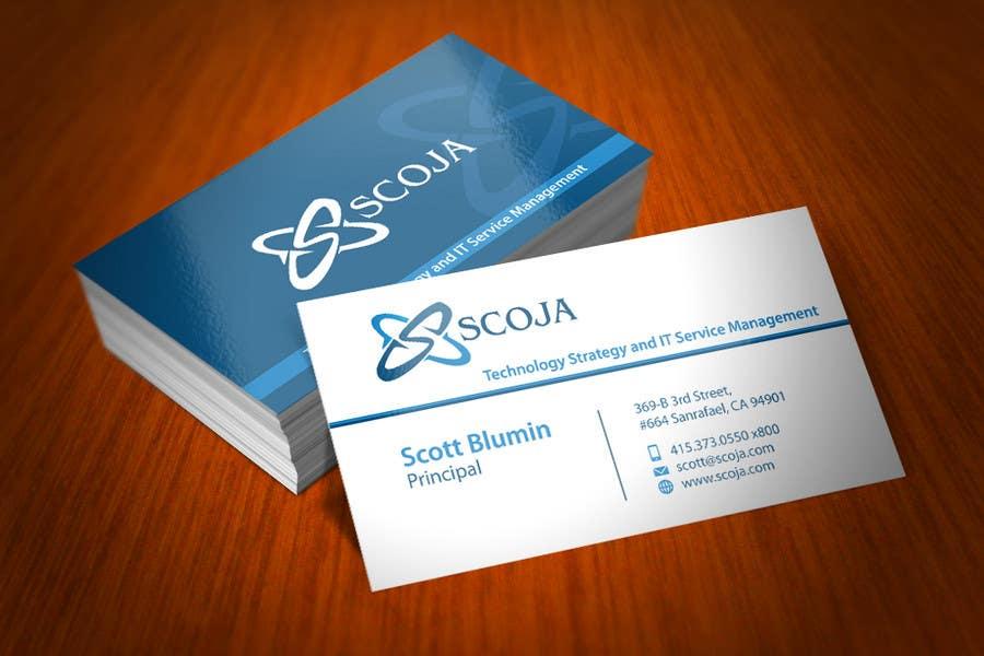 Konkurrenceindlæg #                                        272                                      for                                         Business Card Design for SCOJA Technology Partners