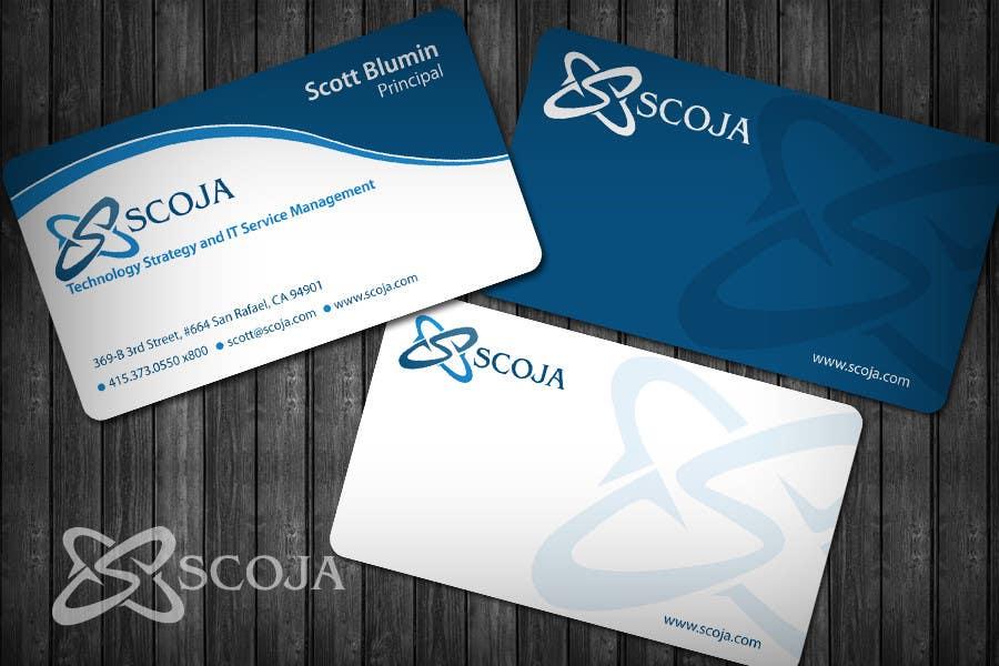 Konkurrenceindlæg #                                        351                                      for                                         Business Card Design for SCOJA Technology Partners