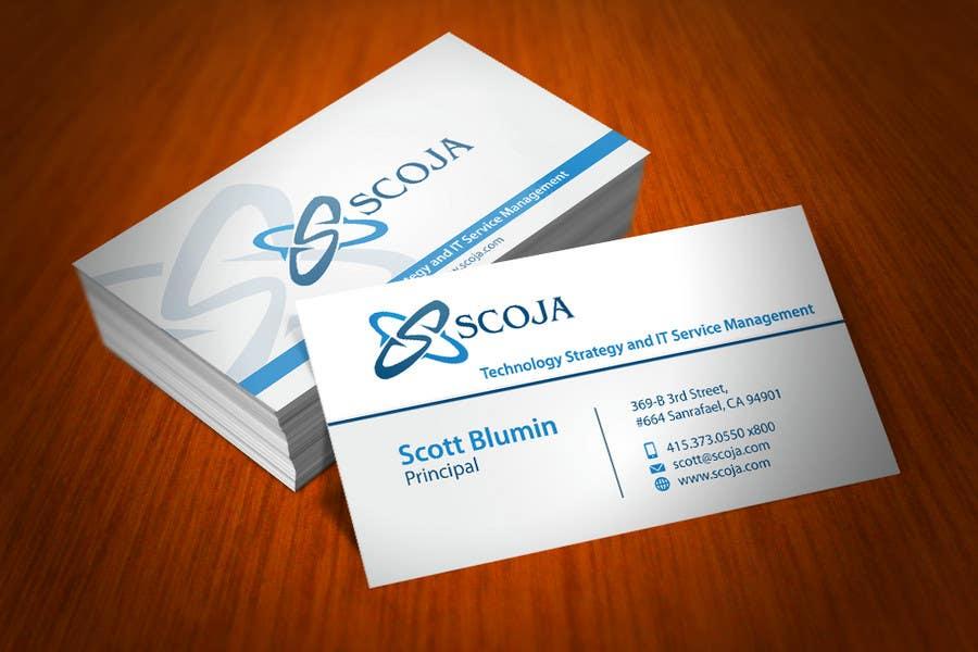 Konkurrenceindlæg #                                        271                                      for                                         Business Card Design for SCOJA Technology Partners
