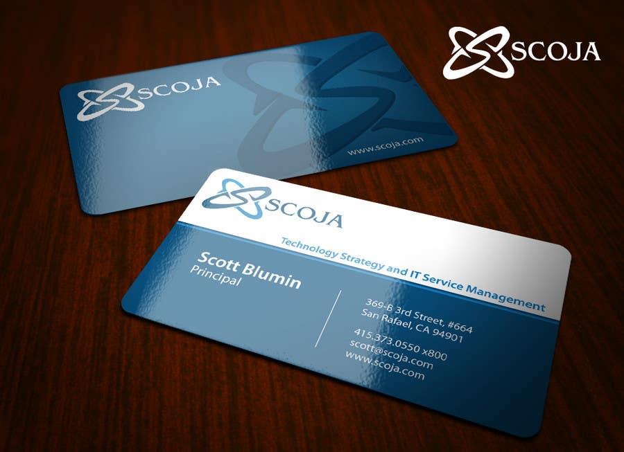 Konkurrenceindlæg #                                        299                                      for                                         Business Card Design for SCOJA Technology Partners