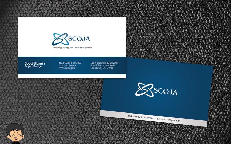 Konkurrenceindlæg #                                        222                                      for                                         Business Card Design for SCOJA Technology Partners
