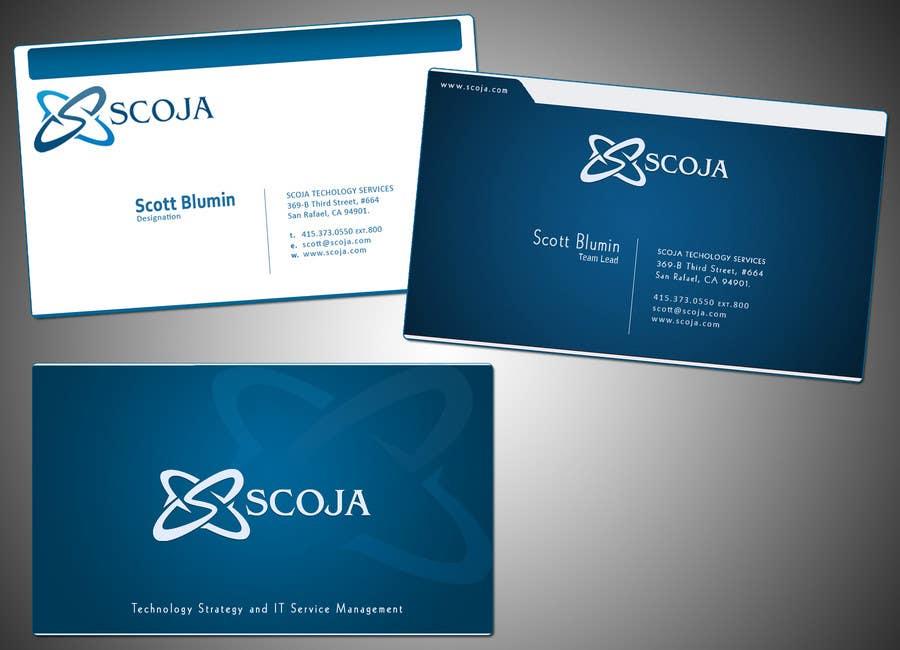 Konkurrenceindlæg #                                        280                                      for                                         Business Card Design for SCOJA Technology Partners