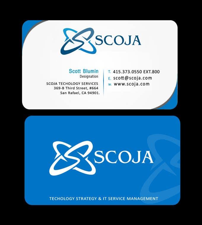 Konkurrenceindlæg #                                        293                                      for                                         Business Card Design for SCOJA Technology Partners