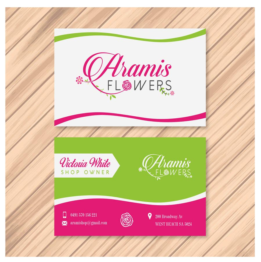 Entry #55 by petra1turcic for Design some Business Cards for flower ...