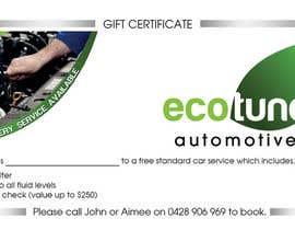 Nro 3 kilpailuun Design a gift certificate designed using supplied logo käyttäjältä hjmerchant