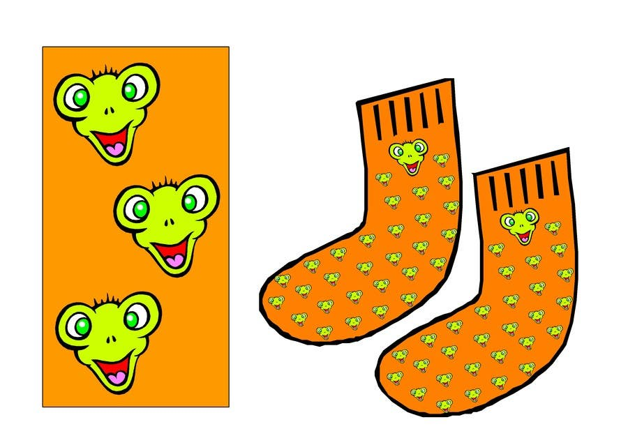#7 for I need some Graphic Design for sock design by ELNADEJAGER