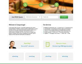 #13 cho Home page design plus logo - legal site bởi helixnebula2010