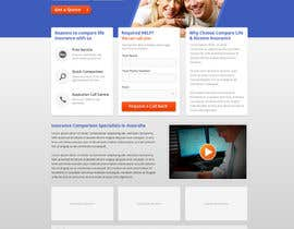 nº 11 pour Home page design plus logo - Insurance site par rainbowfeats