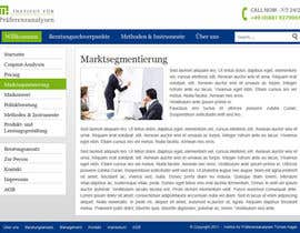 #90 untuk Website Design for small marketing consulting company oleh dragnoir
