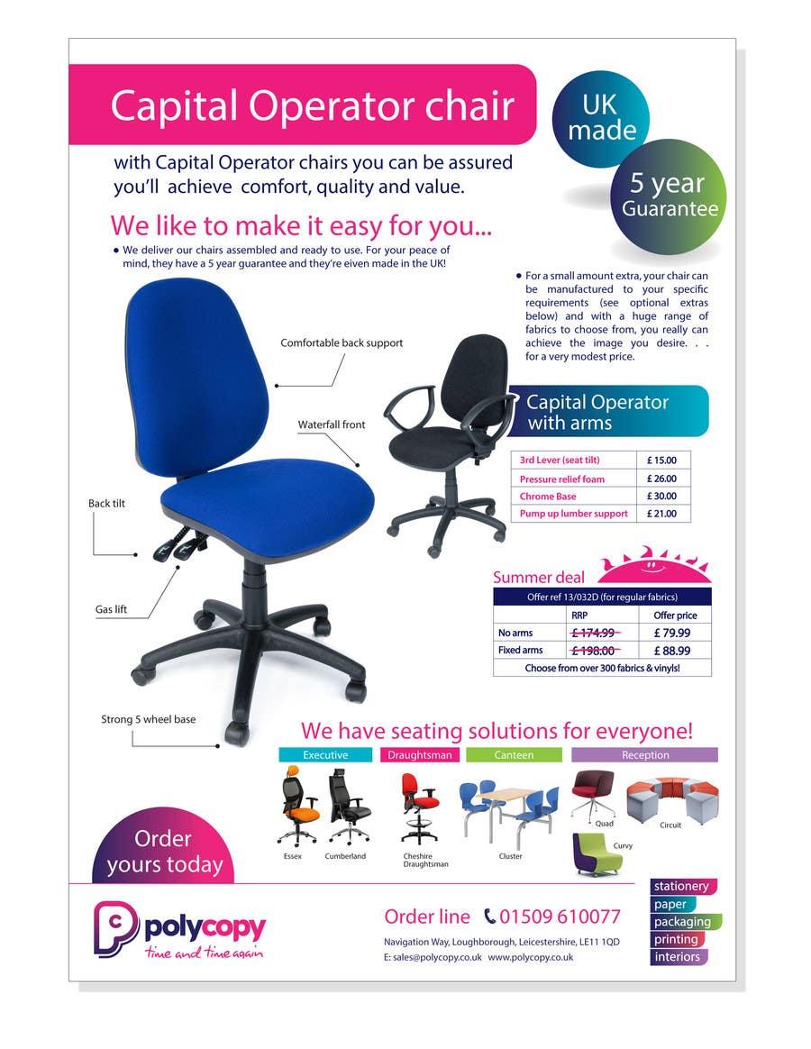 Penyertaan Peraduan #11 untuk Chair flyer A4