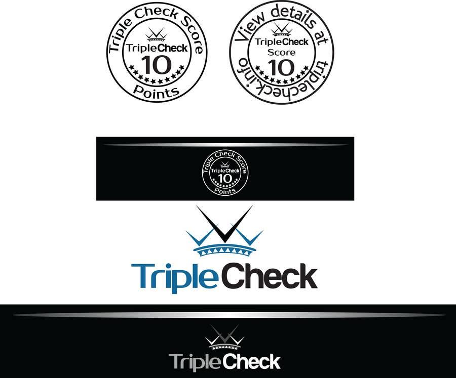 Kilpailutyö #22 kilpailussa Triplecheck logo and stamp