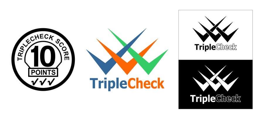 Kilpailutyö #21 kilpailussa Triplecheck logo and stamp