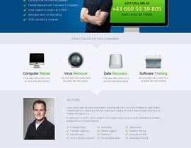 uniqueclick tarafından Design a single Page Website with Logo for a PC repair service için no 16