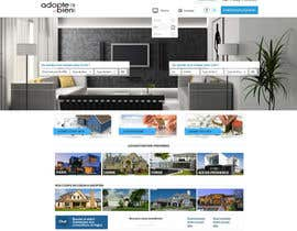 nº 4 pour Design a Website Mockup for a real estate website par SadunKodagoda