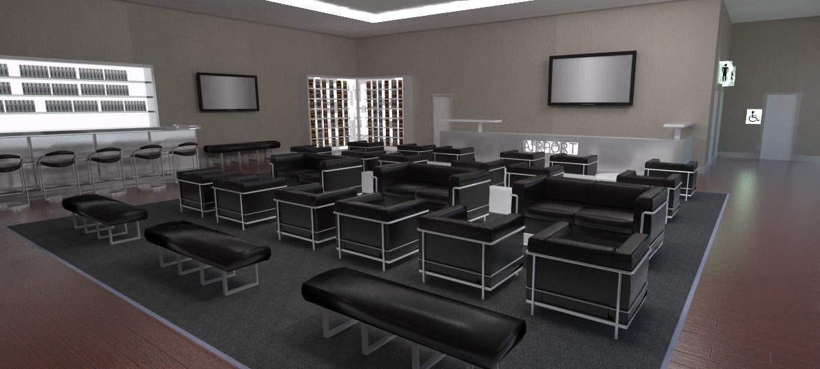 Contest Entry #                                        14                                      for                                         CGI Interior Design First Class Airline Lounge