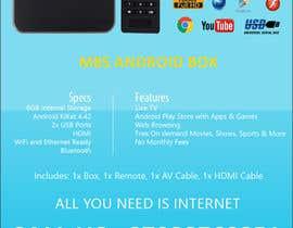 """Nro 4 kilpailuun Design a simple 4"""" x 6"""" Flyer for Android TV Boxes käyttäjältä BeeWorker"""