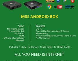 """Nro 9 kilpailuun Design a simple 4"""" x 6"""" Flyer for Android TV Boxes käyttäjältä BeeWorker"""