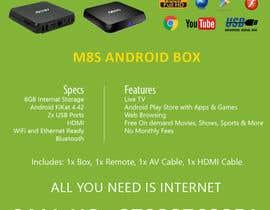"""Nro 10 kilpailuun Design a simple 4"""" x 6"""" Flyer for Android TV Boxes käyttäjältä BeeWorker"""