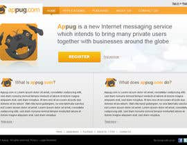 #18 para Website Design for Appug.com, a new online messaging service (generic web page). de tuanrobo
