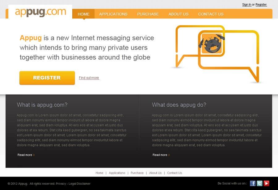 Конкурсная заявка №                                        4                                      для                                         Website Design for Appug.com, a new online messaging service (generic web page).