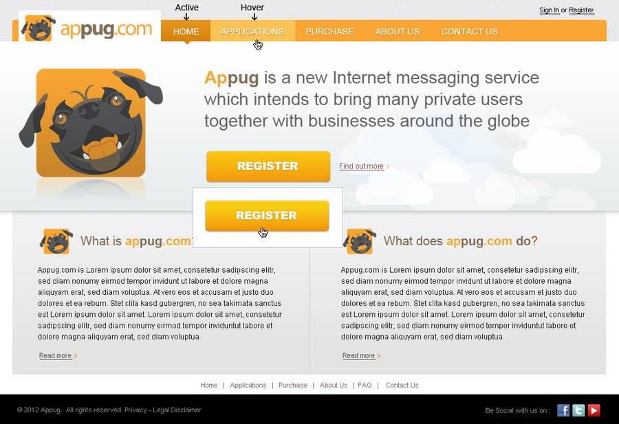 Конкурсная заявка №                                        19                                      для                                         Website Design for Appug.com, a new online messaging service (generic web page).