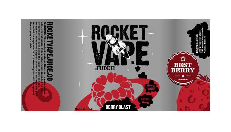 Contest Entry 6 For Vape Juice LABEL Graphic Design