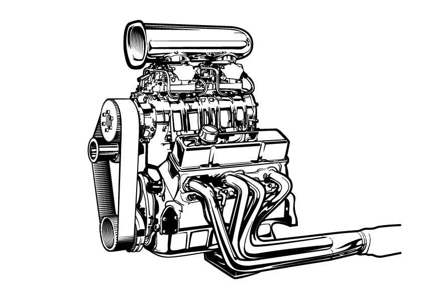chevy 350 engine drawings