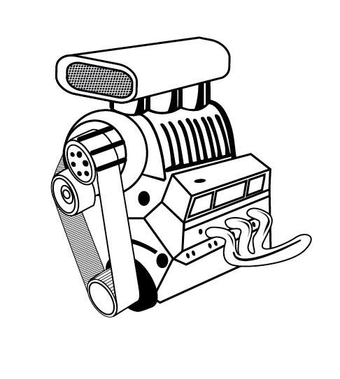 Simple Engine Drawing on diesel engine clip art
