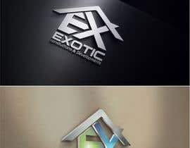 "Nro 196 kilpailuun Design a conceptual and intelligent Logo for the word ""EXOTIC"" along with a punchline/ tagline (optional) käyttäjältä timedsgn"