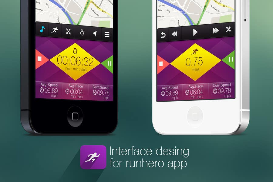 #23 for Need photshop expert to re-design part of user interface (Running App) by tamildio