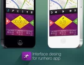 nº 23 pour Need photshop expert to re-design part of user interface (Running App) par tamildio