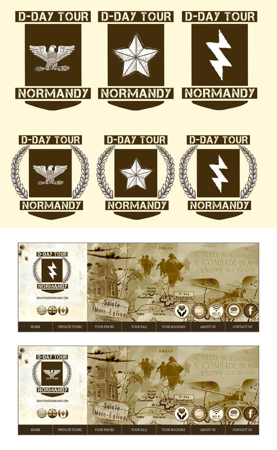 Proposition n°8 du concours D-DAY TOURS NORMANDY LOGO