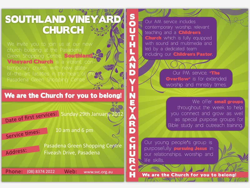 Participación en el concurso Nro.72 para Flyer Design for Southland Vineyard Church