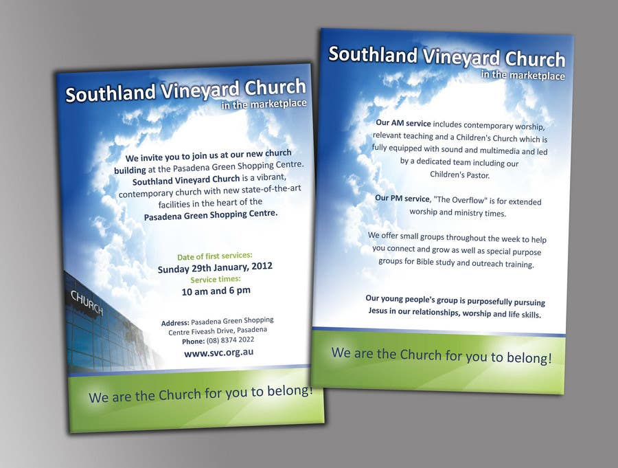 Participación en el concurso Nro.44 para Flyer Design for Southland Vineyard Church