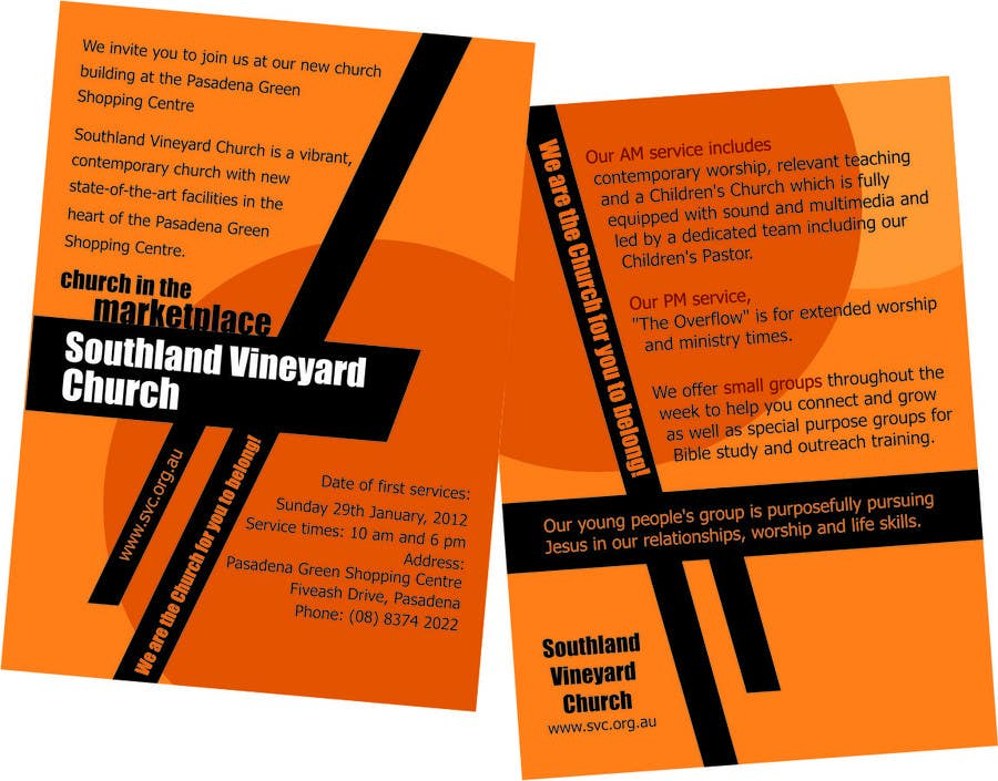 Participación en el concurso Nro.61 para Flyer Design for Southland Vineyard Church