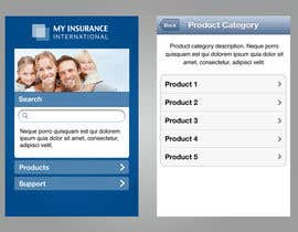 #6 for Design a Mobile Website Mockup for a multinational insurance company by cgfreelancer