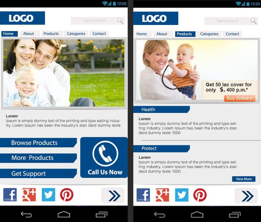 Bài tham dự cuộc thi #                                        12                                      cho                                         Design a Mobile Website Mockup for a multinational insurance company