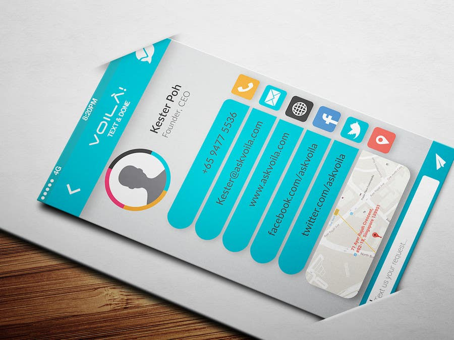 Entry 23 by aparicit for creative business cards design like a chat contest entry 23 for creative business cards design like a chat app interface colourmoves