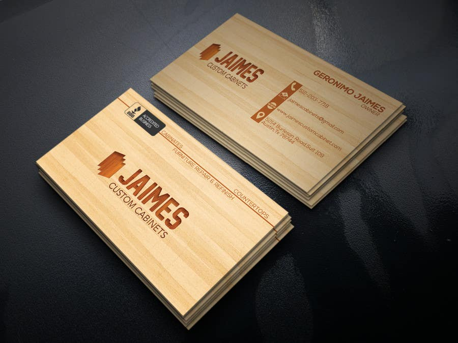 Entry #4 by mizan00007 for Design some Business Cards For Cabinet ...